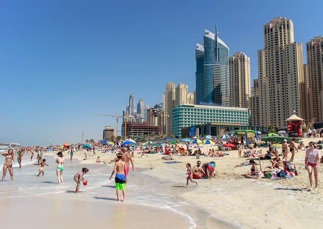 JBR beach, Marina beach