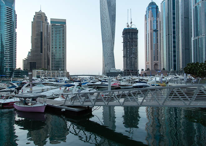 Skyskrapor i Dubai Marina