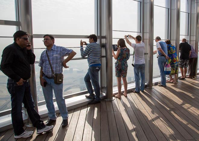 Fotografera från Burj Khalifas terrass